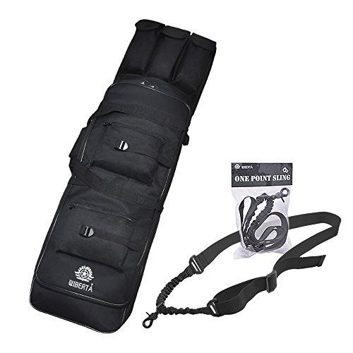 [リベルタ]LIBERTA コンテナライフルケース ダブルガンケース 100cm 2サイズ スリング セット サバゲー 装備 アイテム 大型 ミリタリー ナイロン エアーソフト 収納袋 2WAYタイプ ブラック