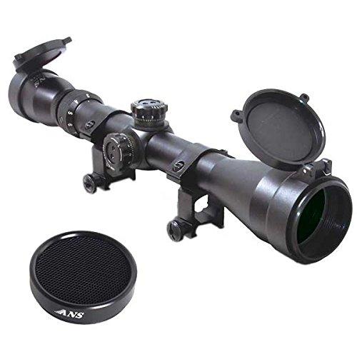 【Amazon.co.jp限定】ANS Optical ライフルスコープ 3-9 x 40mm Pro 可変ズーム ハイエンドモデル シーグリーンコート バトラーキャップ 2,480円相当 キルフラッシュ付