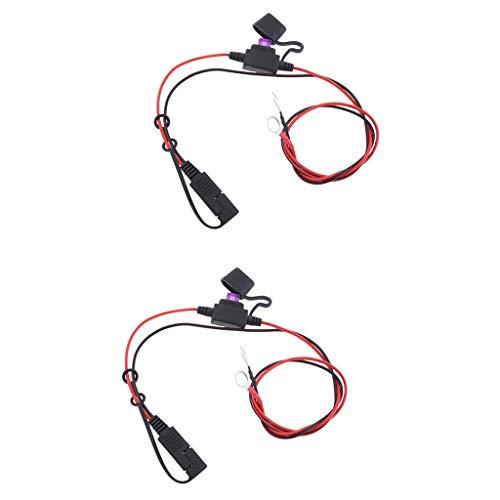 KESOTO SAEハーネス 延長ケーブル O型端子コネクター バッテリー充電器用  2個