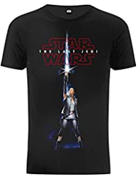(ザ?ティーシャツ?ファクトリー) The T-Shirt Factory スター?ウォーズ オフィシャル商品 メンズ 「最後のジェダイ」 レイ ライトセーバー 半袖 Tシャツ