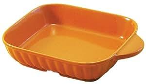 マルヨシ陶器 トースタープレート(ハーフ) ユーロオレンジ M1002