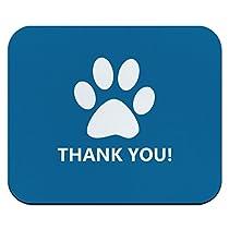 ありがとうございました犬足の印刷青お誕生日赤ちゃん男の子マウスパッド