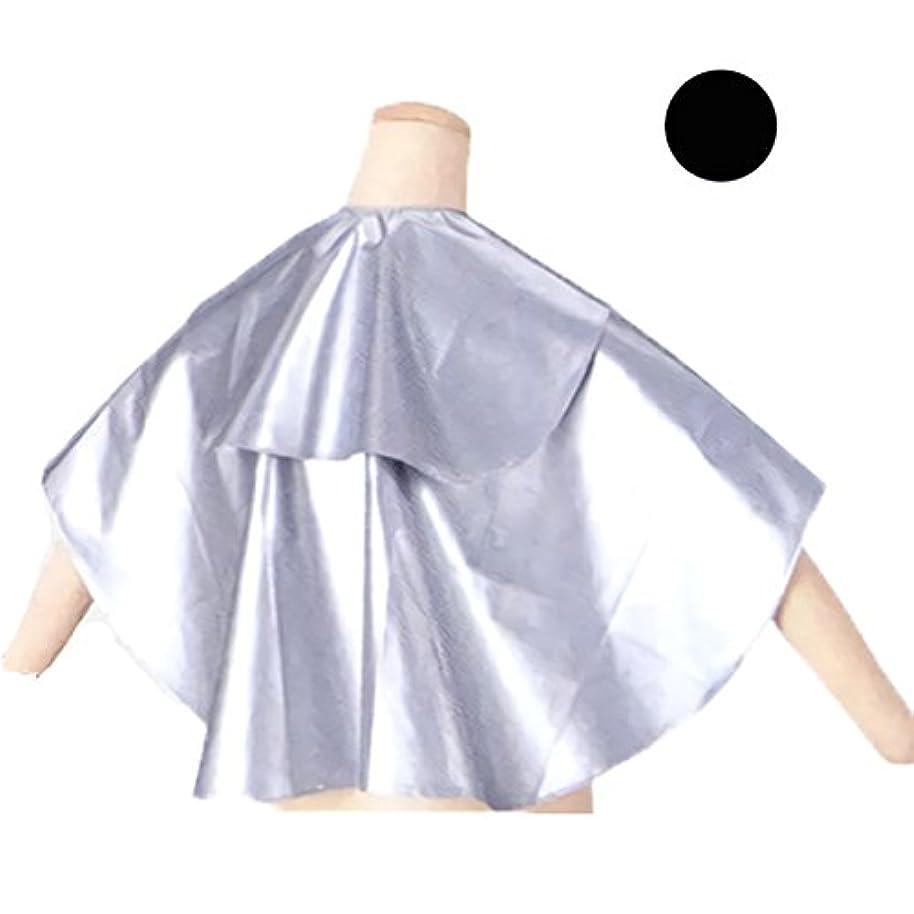 クリア病な瞑想的エルコ 7003 スーパーEX バックシャンプークロス 完全防水 首ピッタリ シャンプーケープ ELCO (ブラック?首回り52cm)