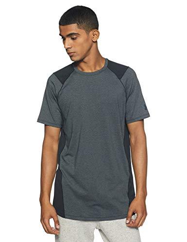 アンダーアーマー メンズスポーツウェア 半袖機能Tシャツ UA MK1 SS 1306428 002 メンズ BLK/SLG(002)