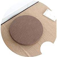 座布団 和風 ふとんクッション 修理座肥厚円フロア畳クッション,カーキ, H6cm