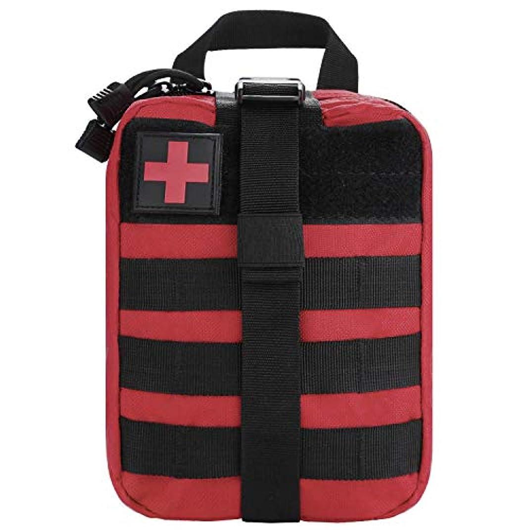 優先権連結するコンサートタクティカル応急処置バッグ – 緊急用タクティカル応急処置ポーチ MOLLEメディカルEMTリップアウェイIFAKポーチ