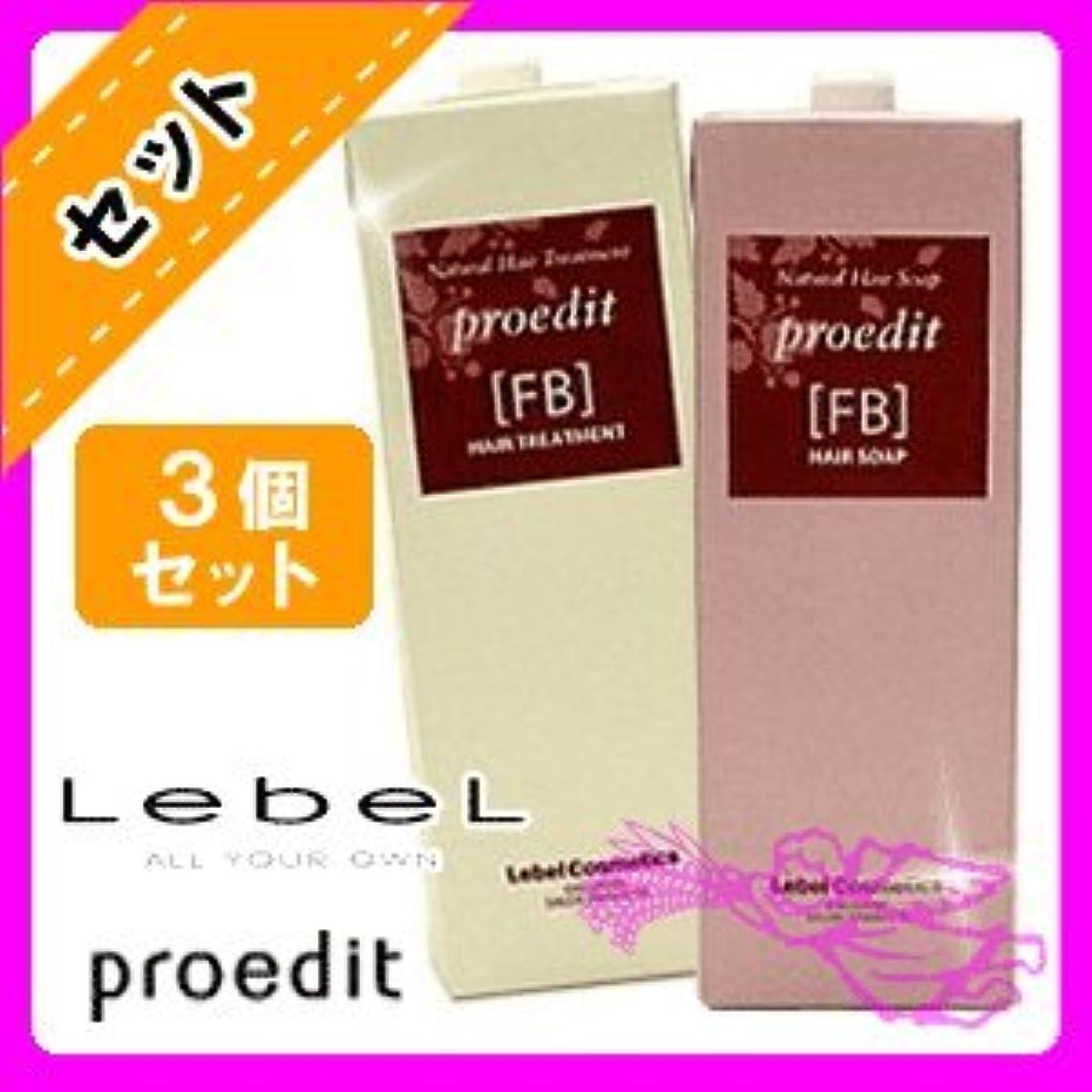 石灰岩透けるに対処するルベル プロエディット シャンプーFB 1600mL ×3個 セット & トリートメントFB 1600mL ×3個 セット セット 業務用 詰め替え用 LebeL proedit