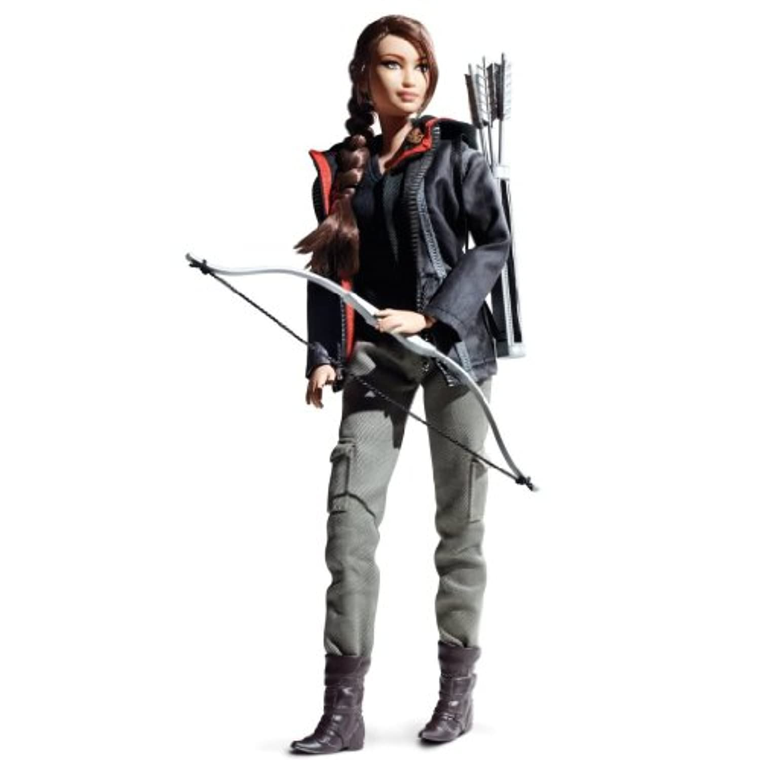 Toy / Game Barbie Collector Hunger Games Katniss Everdeen Doll W/ A Hooded Jacket, Top & Military-Style Pants by 4KIDS