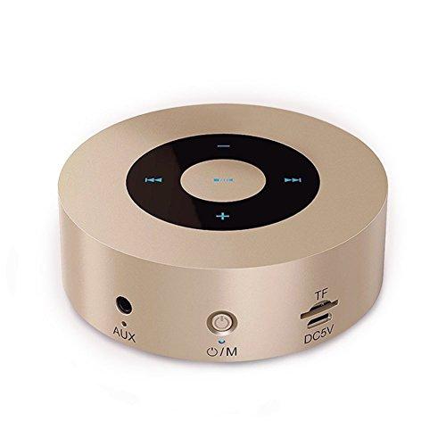 Ewin Bluetoothスピーカー高音質 LEDタッチ操作 ポータブル ワイヤレススピーカー マイク内蔵 TFカード AUX対応 8時間連続再生 Mac/PC/MP3/MP4/ タブレット/スマホ/スマートテレビ/PSPなどに対応 【日本語説明書&12月保証付き】