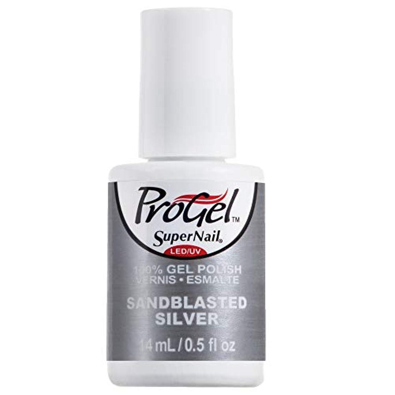 警官モードリン目指すSuperNail ProGel Gel Polish - Sandblasted Silver - 0.5oz / 14ml