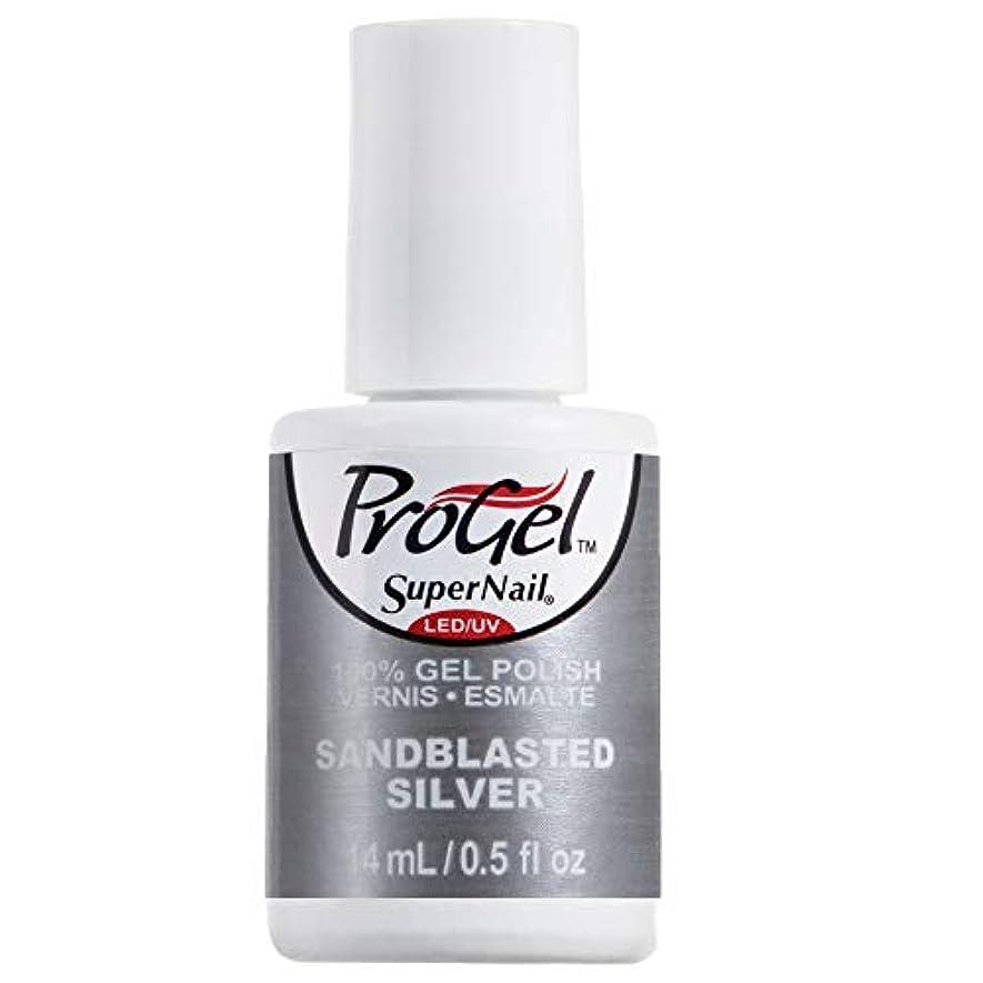 フィラデルフィア基礎理論人物SuperNail ProGel Gel Polish - Sandblasted Silver - 0.5oz / 14ml