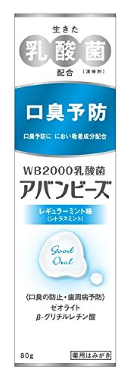 試験ドナウ川憂鬱わかもと製薬 アバンビーズ レギュラーミント味 80g