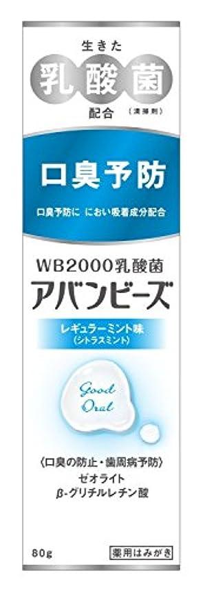 フォークフリース採用するわかもと製薬 アバンビーズ レギュラーミント味 80g