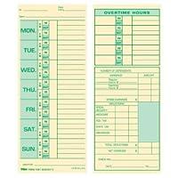 時間カードforピラミッドモデル331–10、週単位、両面、31/ 2x 81/ 2、500/ボックス 1-Pack