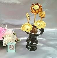 京都清水・煌ブランド 小常花 アルミ製  3号5本立 1本 金色(花立 別売り)   かわいい京都の小物お付けします!