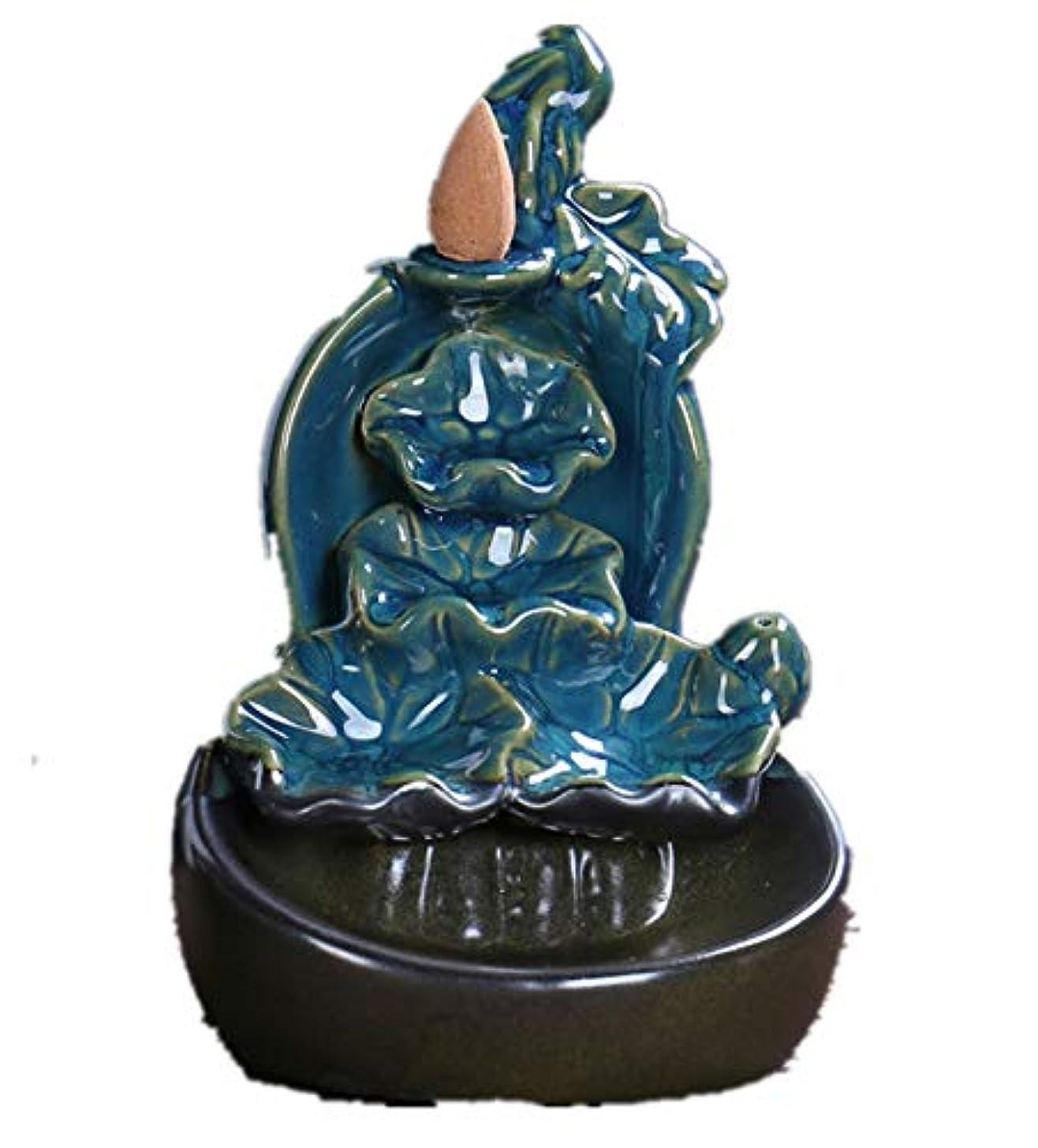 不毛の地区美徳XPPXPP Backflow Incense Holder, Incense Burner Multi Layer Ceramic Incense Cones Burner Incense Stick Holder Backflow...