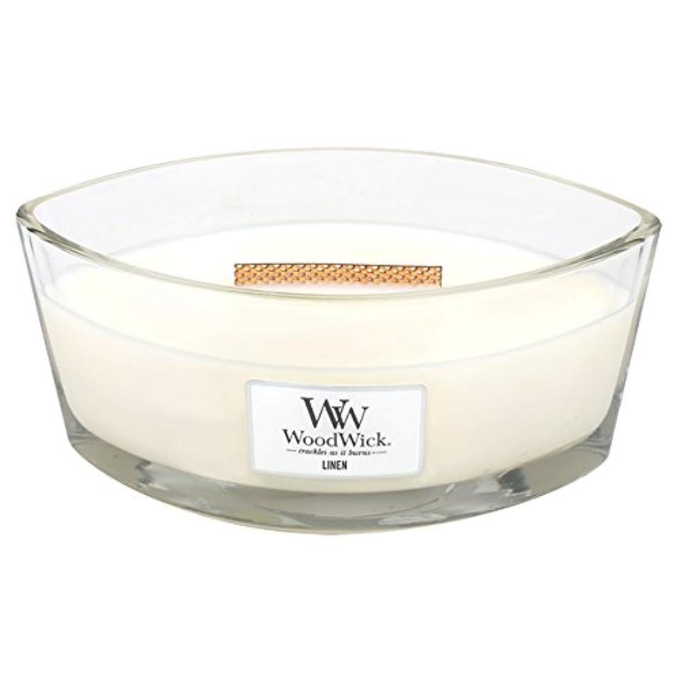 曇ったポーチ定期的なWood Wick ハースウィックL 「 リネン 」 キャンドル W940053012