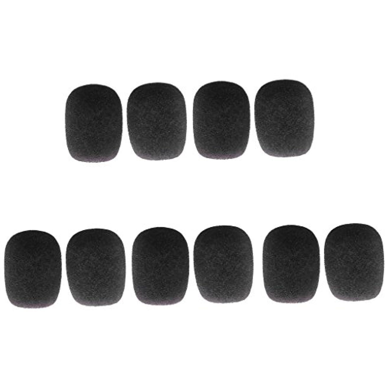 高める区別するバンケットsharprepublic 10個 スポンジ ミニ マイクウィンドスクリーン マイクカバー 全5色 - ブラック