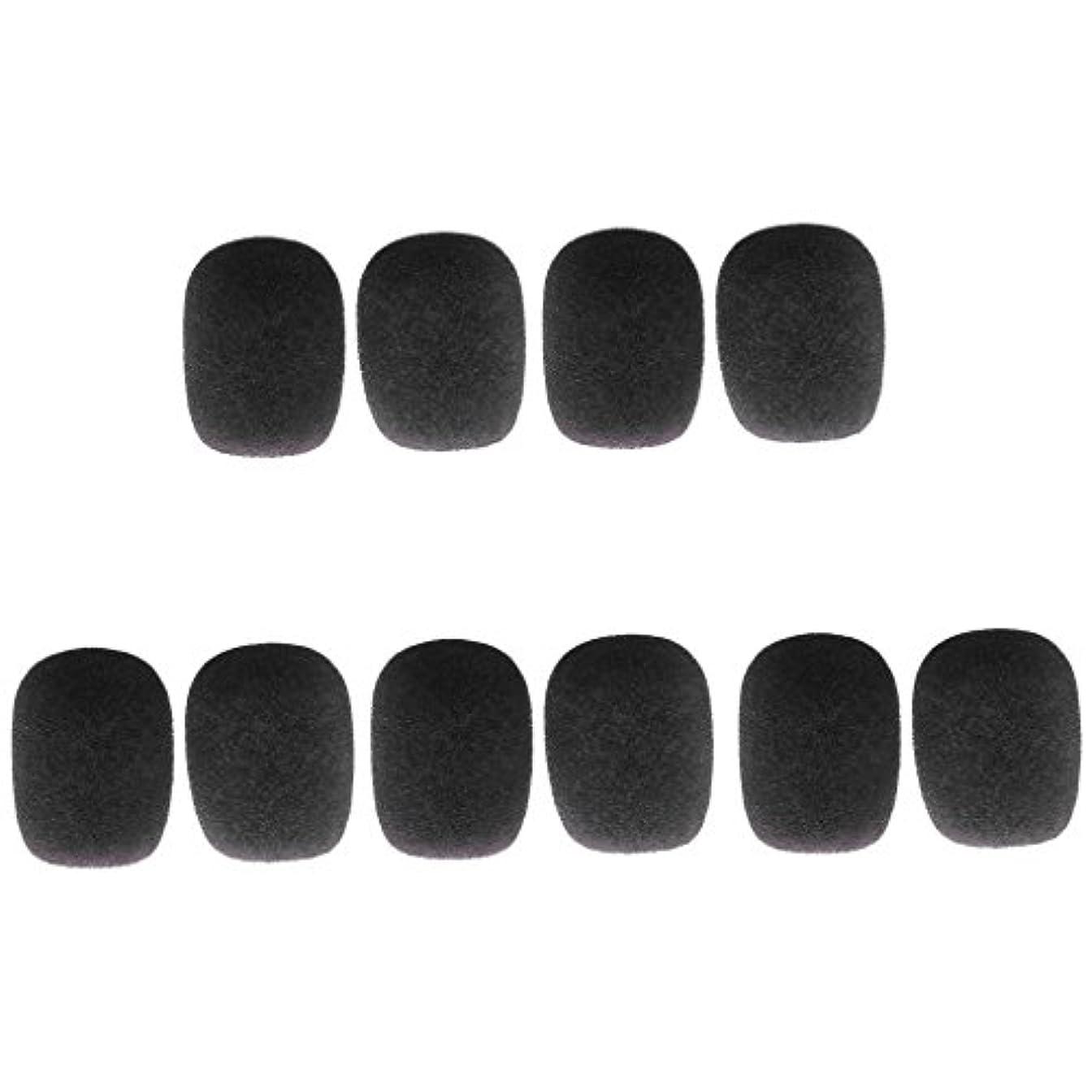 励起ねじれによってsharprepublic 10個 スポンジ ミニ マイクウィンドスクリーン マイクカバー 全5色 - ブラック