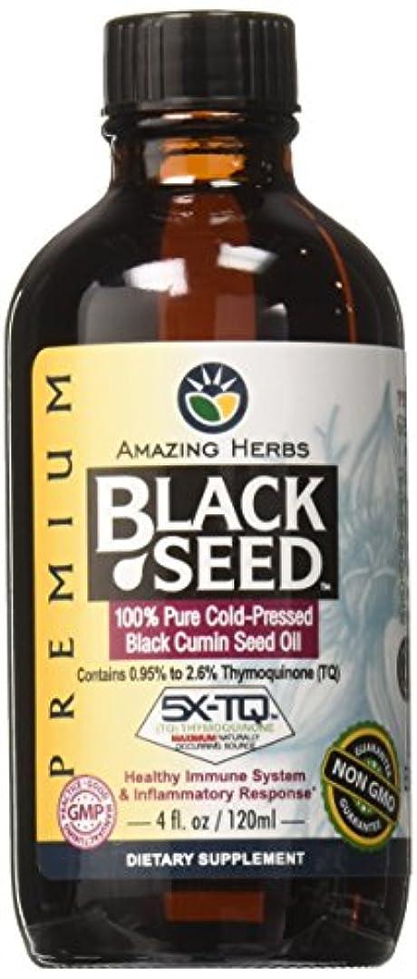 パラナ川クリック傭兵海外直送品Black Seed Oil, 4 Oz by Amazing Herbs