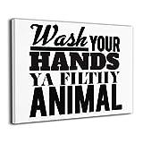 揺れる想い Bathroom Quotes & Rules Wash Your Hands 絵画 フレーム装飾画 キャンバスアート 壁画 風景画 抽象画 現代ポップアート モダンインテリア 玄関 リビング 寝室 額縁なし 壁掛け アートパネル 完成品 絵画壁飾 新築祝い 贈り物 40*50cm