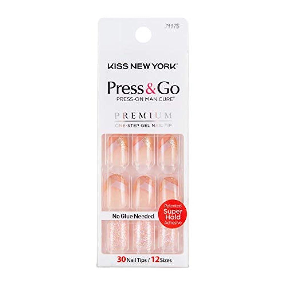 アクセシブル確立政治家キスニューヨーク (KISS NEW YORK) KISS NEWYORK ネイルチップPress&Go BHJ24J 19g