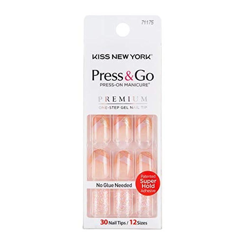 連鎖確実フットボールキスニューヨーク (KISS NEW YORK) KISS NEWYORK ネイルチップPress&Go BHJ24J 19g