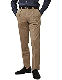 PT01 Madras GENTLEMAN FIT ウールコットン ソラーロ ナチュラルストレッチ ボックスプリーツ パンツ [並行輸入品]