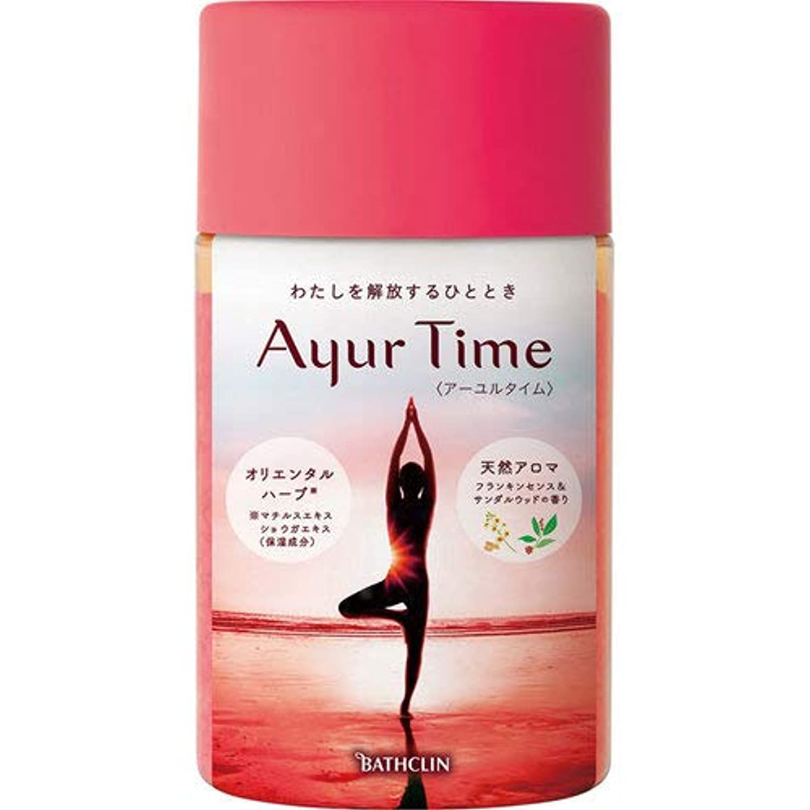 メニュー臭い意味するバスクリン アーユルタイム フランキンセンス&サンダルウッドの香り 入浴剤 720g