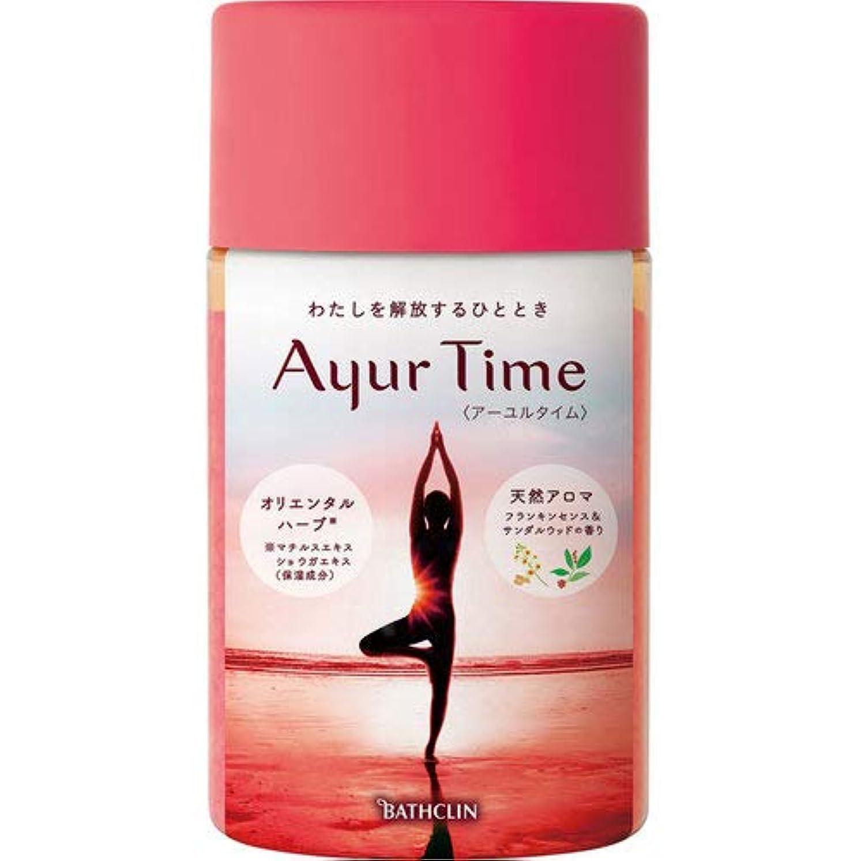 木曜日原理流用するバスクリン アーユルタイム フランキンセンス&サンダルウッドの香り 入浴剤 720g