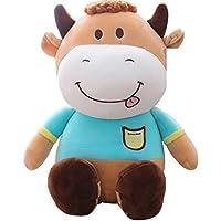 Pinjewelry ホームデコレーション ソフトトイ かわいい牛 30cm ぬいぐるみ 人形 枕 人形 クリエイティブ 子供の誕生日ギフト 女の子用 (ライトブルー)