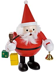 Santa Claus with Bell and presents German木製クリスマスIncense Smokerドイツ