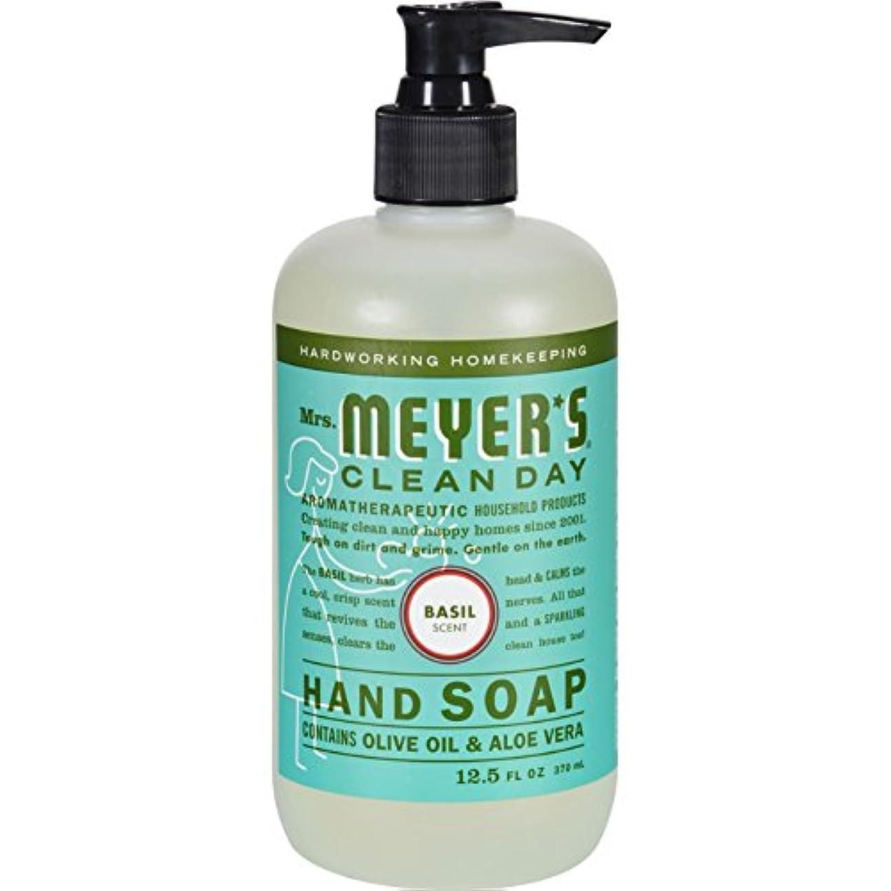 アリケント火傷MRS. MEYER'S HAND SOAP,LIQ,BASIL, 12.5 FZ by Mrs. Meyer's Clean Day