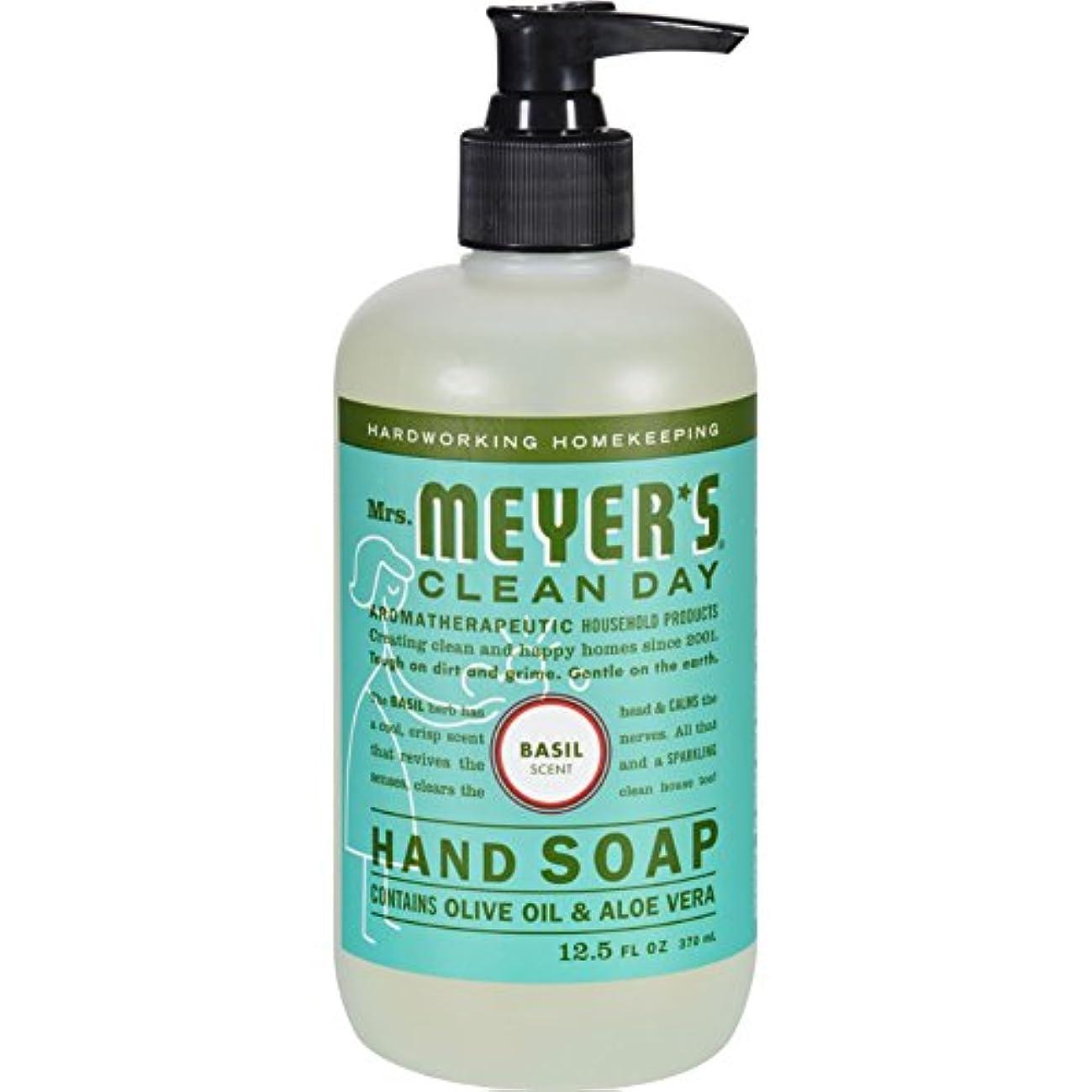 宇宙飛行士ディスコ欠かせないMRS. MEYER'S HAND SOAP,LIQ,BASIL, 12.5 FZ by Mrs. Meyer's Clean Day