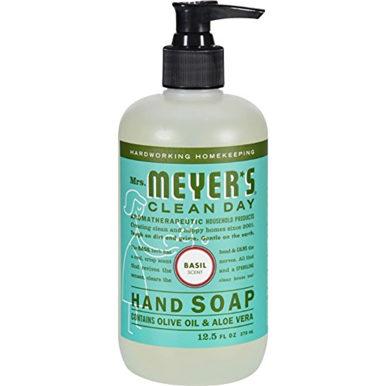 私現象塩MRS. MEYER'S HAND SOAP,LIQ,BASIL, 12.5 FZ by Mrs. Meyer's Clean Day