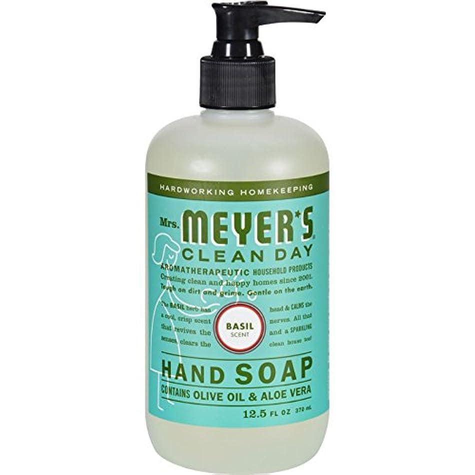 盲目落ち着いたチェスをするMRS. MEYER'S HAND SOAP,LIQ,BASIL, 12.5 FZ by Mrs. Meyer's Clean Day