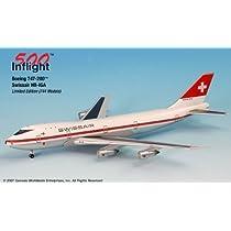 おもちゃ Swissair HB-IGA 747-200 Airplane Miniature Model モデル Metal Die-Cast 1:500 Part# A015-IF5742009 [並行輸入品]