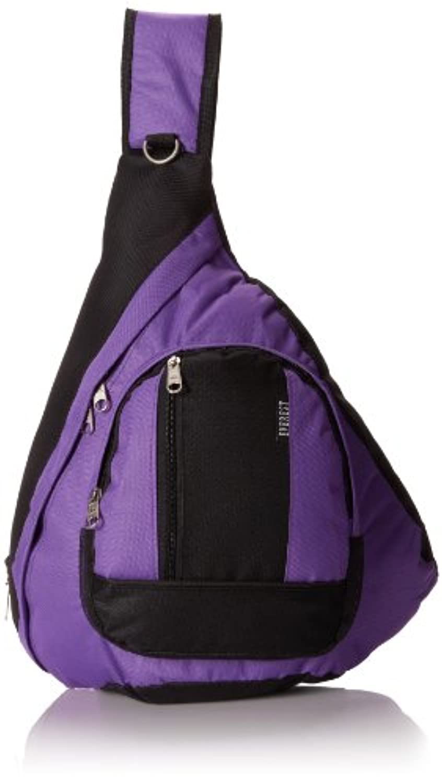 エベレストBB015-DPL-BKスリングバッグ - ダークパープル、ブラック
