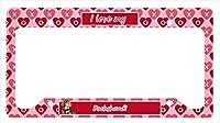 キャロラインはLH9166LPFダックスバレンタイン愛と心のナンバープレートフレームを宝物
