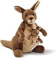 GUND Jirra Kangaroo Stuffed Animal Plush, Brown, 10 inch