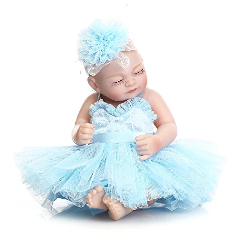 Decdeal リボーン 赤ちゃん人形 バスおもちゃ フルシリコーンボディ アイズ閉じる 服付き かわいい 贈り物