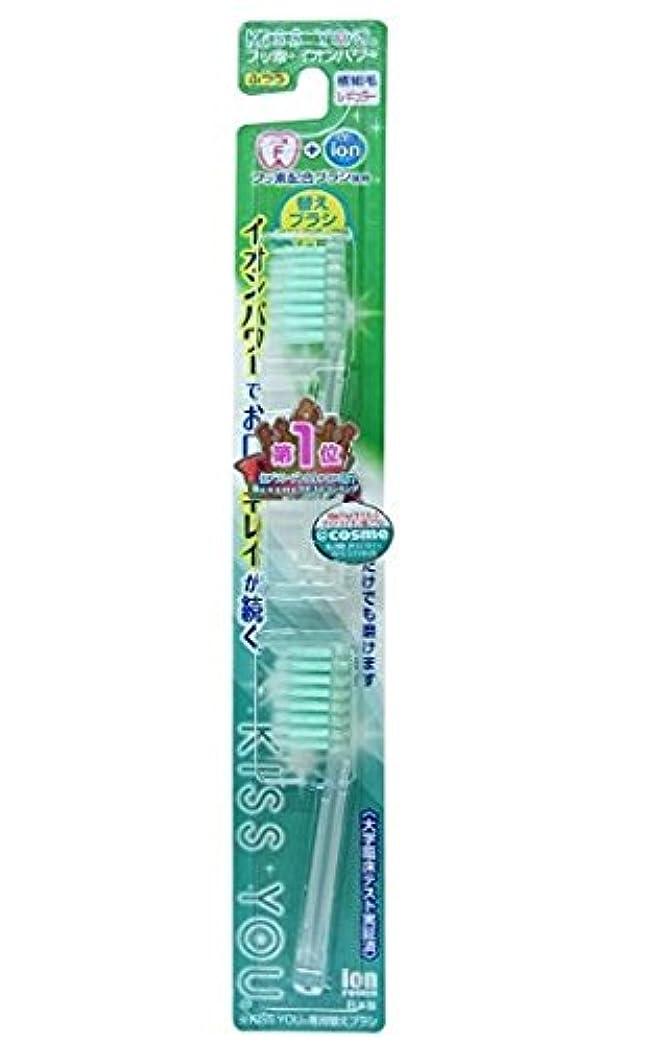 アカウント掃く農村フッ素イオン歯ブラシ極細レギュラー替えブラシふつう × 10個セット