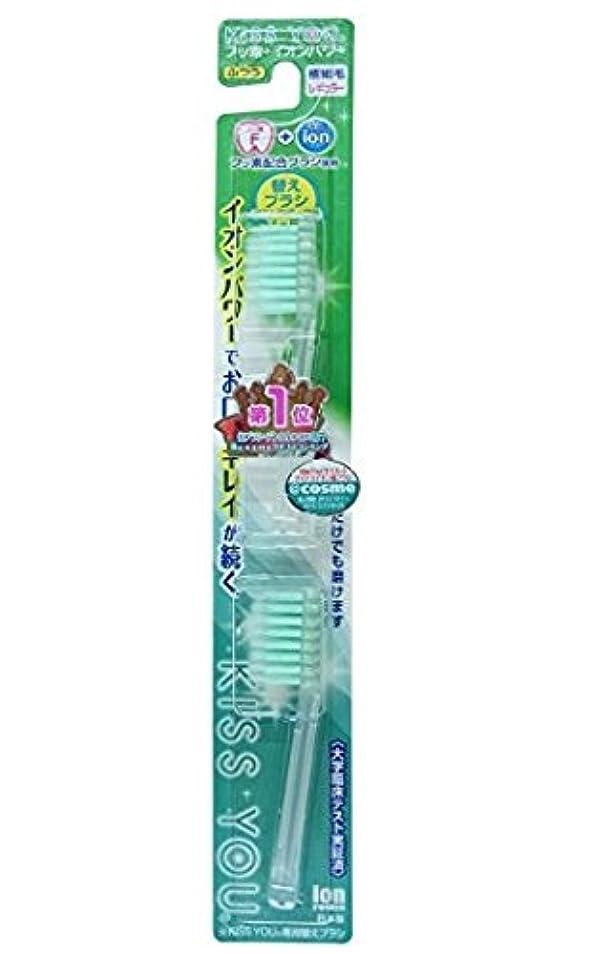 冬ジャズ識別フッ素イオン歯ブラシ極細レギュラー替えブラシふつう × 10個セット