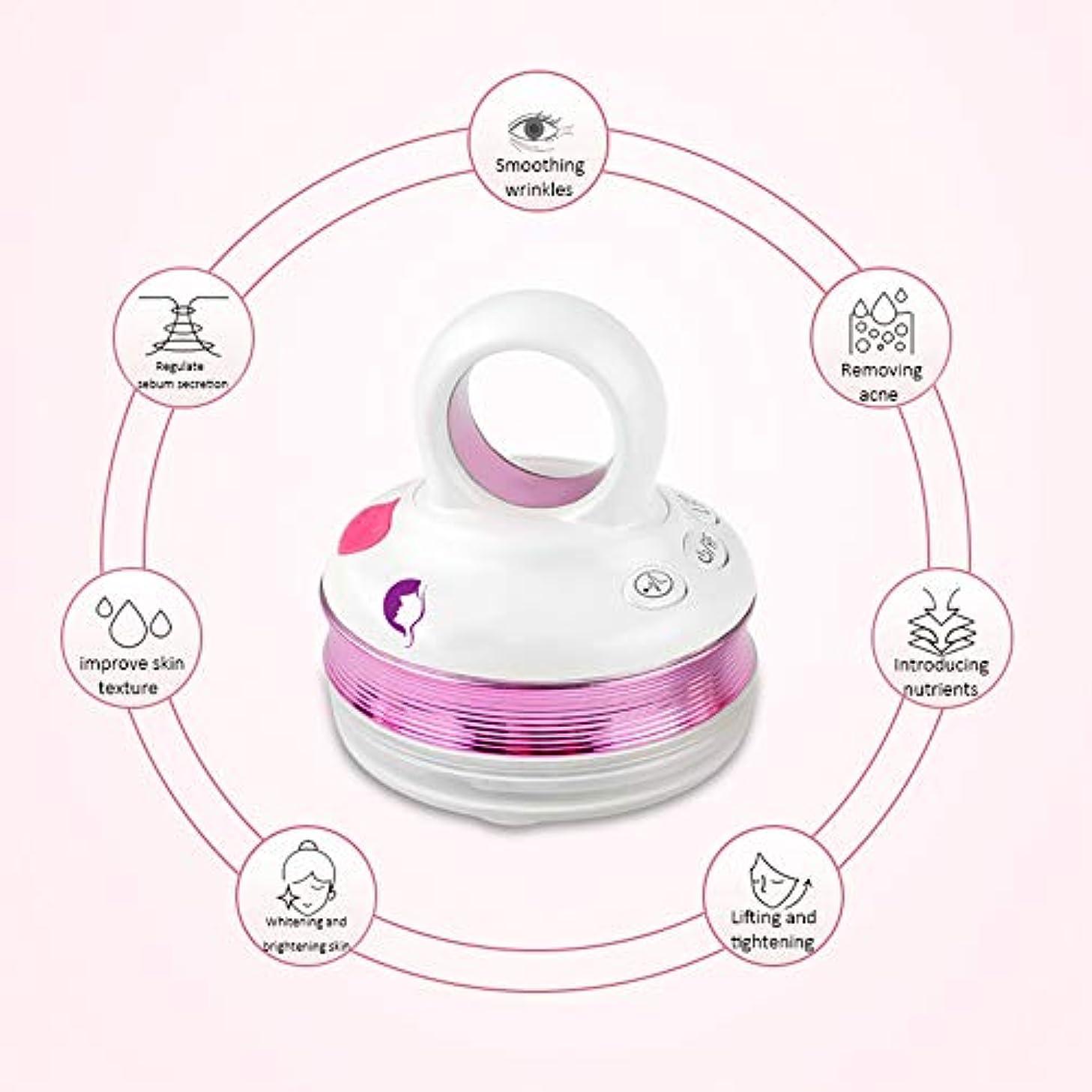 ピルファー陽気な時計RFラジオ周波数フェイシャルマシン、EMSマッサージャー、ハンドヘルドフェイシャルイオン導入美容機器、家庭用美容機器振動機器,Purple