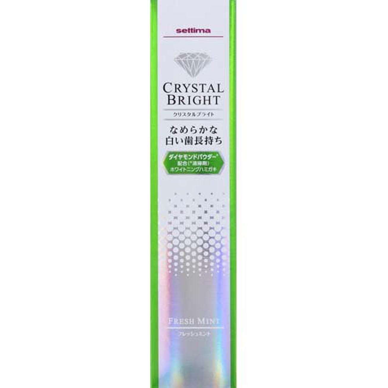政治ユニークな空気セッチマ クリスタルブライト ハミガキ フレッシュミント 40g
