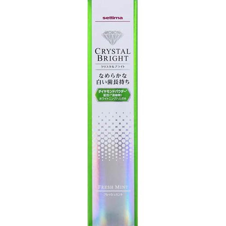 広告する内訳高いセッチマ クリスタルブライト ハミガキ フレッシュミント 40g