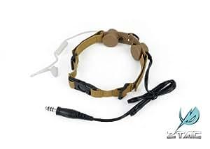 【咽喉マイク】ZTACTICAL タクティカルスロートマイク TAN Z-033T ★本場SEALE隊員も愛用! 検 サバゲ サバイバルゲーム