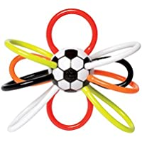 Manhattan Toy Soccer Winkel Rattle and Sensory Teether Baby Toy 6 x 2.5 x 5 [並行輸入品]