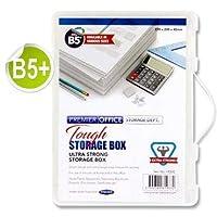 Premier Office B5+ 透明ディープタフストレージボックス オーガナイザーファイル ハンドル付き x2