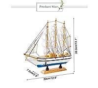 33センチ木製帆船モデルの装飾品地中海クリエイティブレトロ船ミニチュアホームオフィスの装飾子供誕生日プレゼント